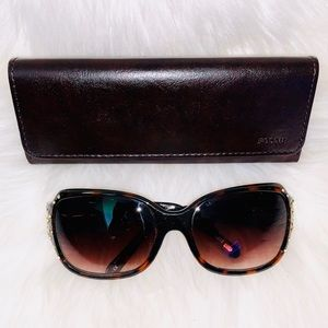 Bling Fossil Sunglasses with Case